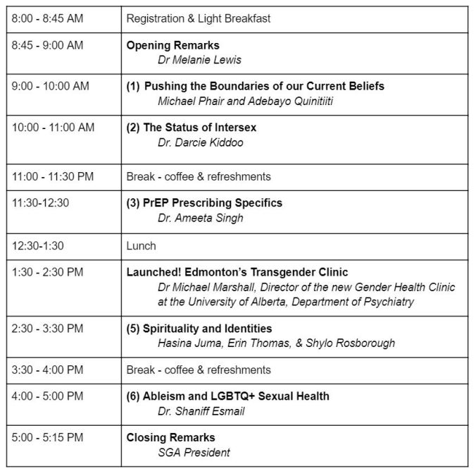 Conference schedule - Mar7